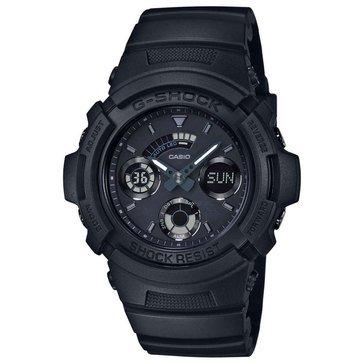 Casio G-Shock Men's Black Out Watch AW591BB-1A, Black 52mm