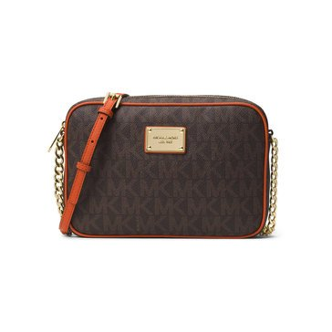 Michael Kors Jet Set Item Large East/West Crossbody Brown/Orange