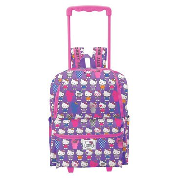 Hello Kitty Lavender Rolling Backpack