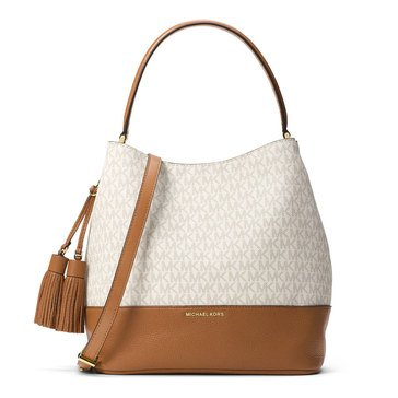 Michael Kors Kip Large Bucket Bag Vanilla/Acorn