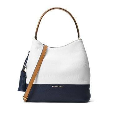 Michael Kors Large Bucket Bag Optic White/Admiral