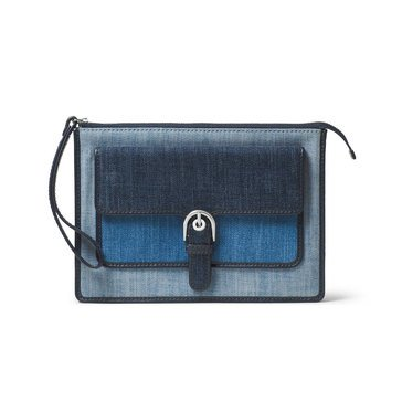 Michael Kors Cooper Medium Wristlet Indigo/Denim