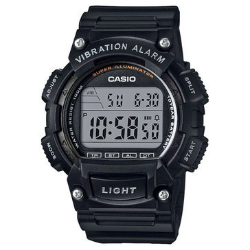 Casio Men's Vibration Alarm Digital Watch W736H-1AV, Black 51mm