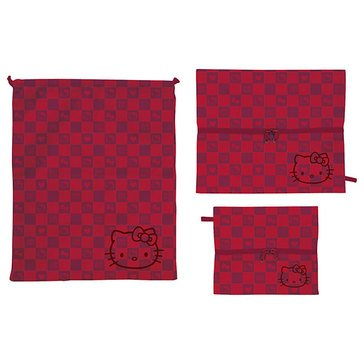 Hello Kitty Travel 3-Piece Travel Pouch Set