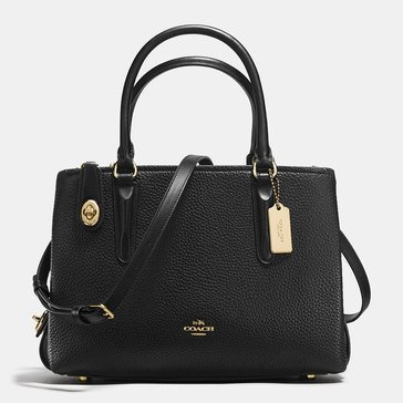 Coach Pebble Brooklyn 28 Carryall Black