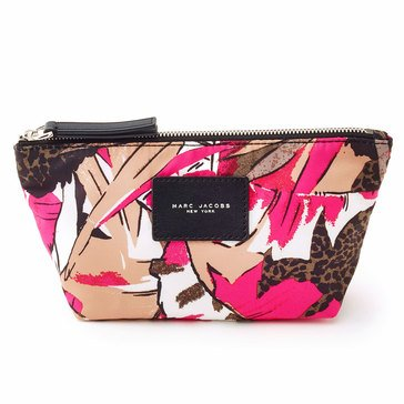 Marc Jacobs Bring Your Own Tote Parrot Print Trapezoid Cosmetics Case