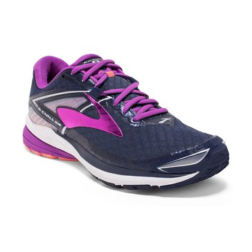 Brooks Ravenna 8 Women's Running Shoe Peacoat/ Pruple Cactus/ Flower/ Fusion Coral.