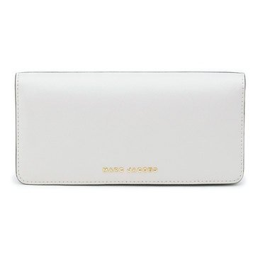 Marc Jacobs Saffiano Bicolor Flap Continental Wallet Navy/Dove