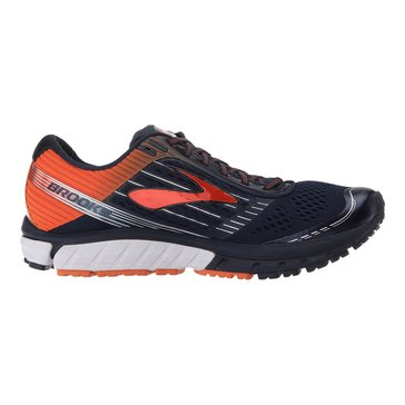 Brooks Ghost 9 Men's Running Shoe Peacoat/ Red Orange/ Black