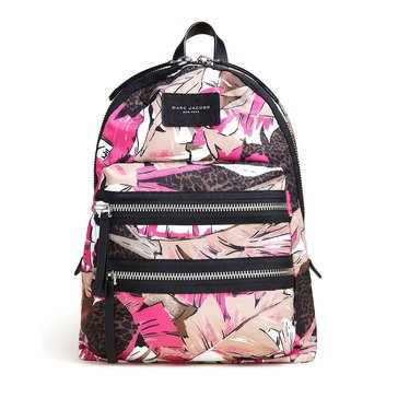Marc Jacobs Palm Printed Backpack Pink Multi