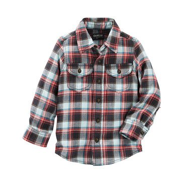 Oshkosh B'gosh Toddler Boys' Western Pocket Shirt, Plaid