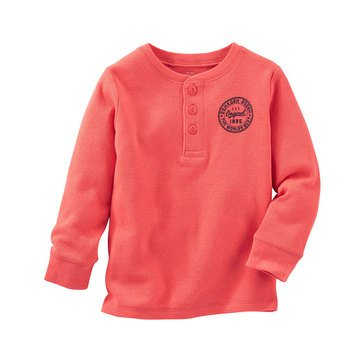 Oshkosh B'gosh Toddler Boys' Thermal Henley, Orange
