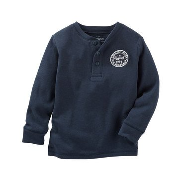 Oshkosh B'gosh Toddler Boys' Thermal Henley, Navy