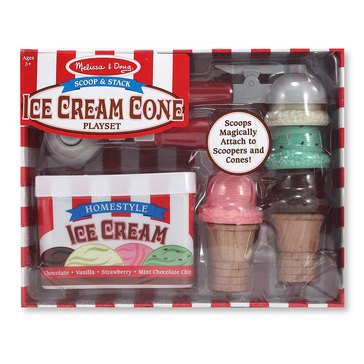 Melissa & Doug Scoop and Stack Ice-Cream Play Food Set