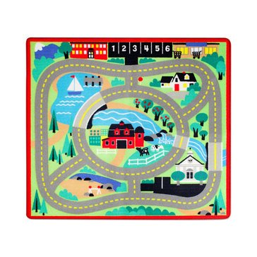 Melissa & Doug Round the Town 4 Cars and Drive Along Rug