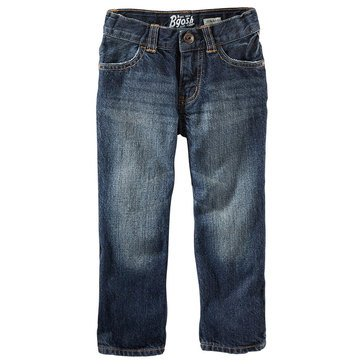 Oshkosh B'gosh Little Boys' Core Straight Fit Denim, Navy