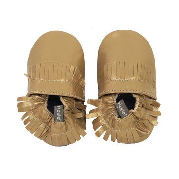 Tommy TIckle Baby Girls Mocassin, Size 12-18 Month