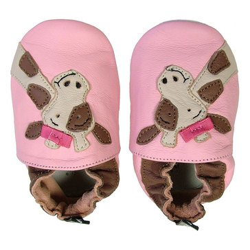 Tommy Tickle Baby Girls Giraffe Shoe, Size 0-6 Month