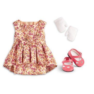 American Girl Melody's Fancy Floral Dress
