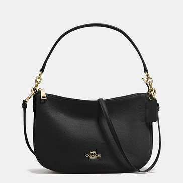 Coach Pebble Chelsea Crossbody Black