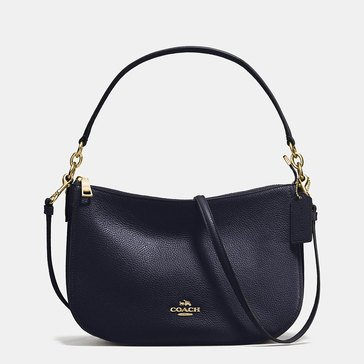 Coach Pebble Chelsea Crossbody Navy