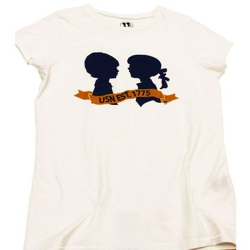Boy Meets Girl Birthday Crew Tee in White