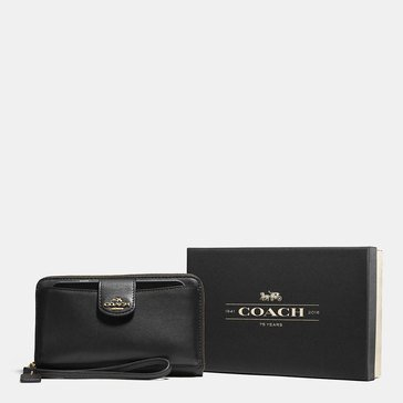 Coach Boxed Universal Phone Wallet Black