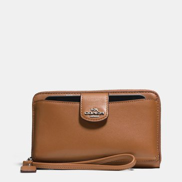 Coach Boxed Universal Phone Wallet Saddle