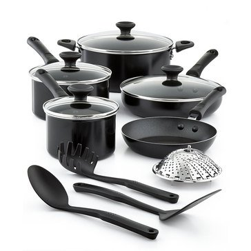 Tools of the Trade 13-Piece Non-Stick Cookware Set, Black
