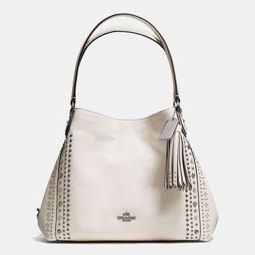 Coach Bandana Rivets Edie 31 Shoulder Bag Chalk