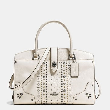Coach Bandana Rivets Mercer 30 Satchel Chalk