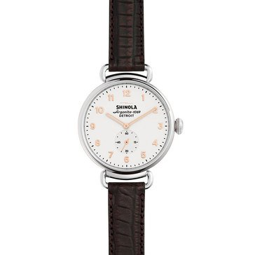 Shinola Women's Canfield Chronograph with Oxblood Alligator Strap Watch, 38mm