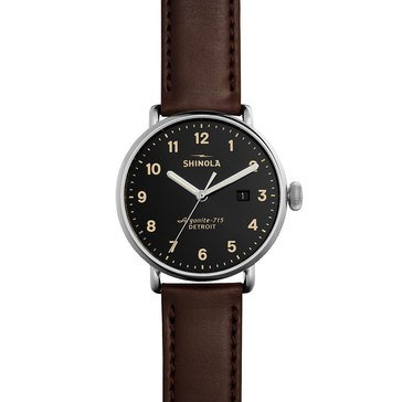 Shinola Men's Canfield with Oxblood Leather Strap Watch, 43mm