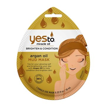 Yes to Miracle Oil Brighten & Condition Argan Oil Mud Mask, Single