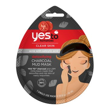 Yes to Tomatoes Detoxifying Charcoal Mud Mask, Single