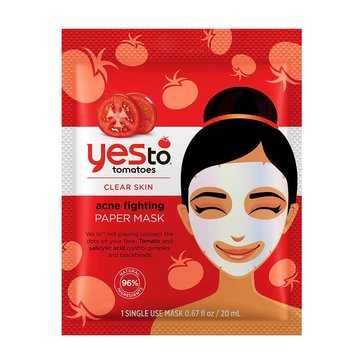 Yes to Tomatoes Clear Skin Acne Fighting Paper Mask, Single