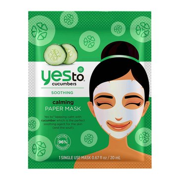 Yes to Cucumbers Soothing Calming Paper Mask, Single
