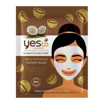 Yes to Coconut Ultra Hydrating Paper Mask, Single