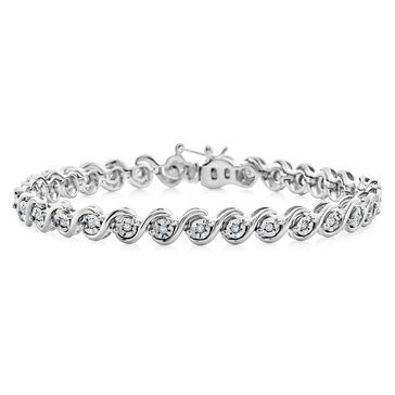 Sterling Silver 1/4 cttw Diamond Bracelet