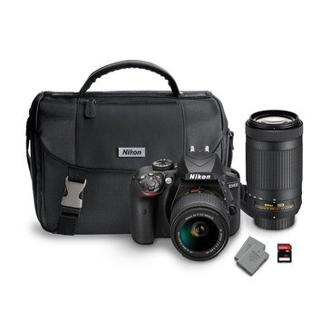 Nikon D3400 2-Lens Bundle with 18-55MM VR & 70-300MM ED Lenses + 32GB Memory Card