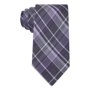 Calvin Klein Graphite School Boy Plaid Tie - Purple