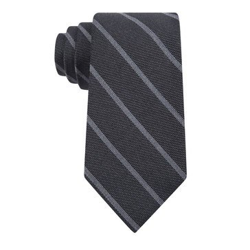 Calvin Klein Glimmer Repp Striped Tie - Black