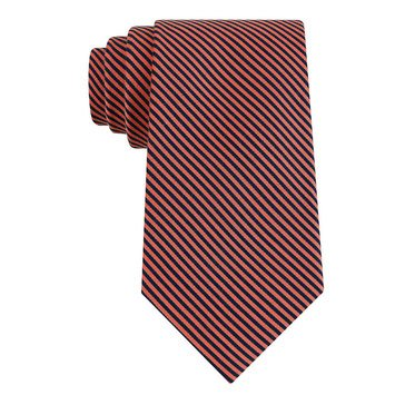 Izod School Stripe Tie - Orange