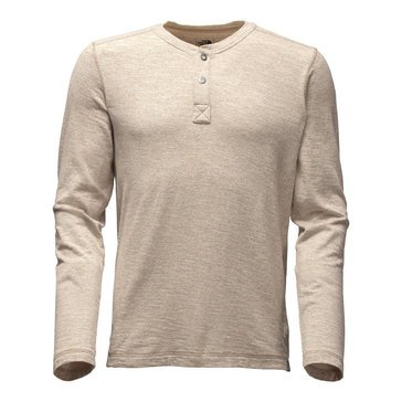 The North Face Men's Long Sleeve Copperwood Beige Henley