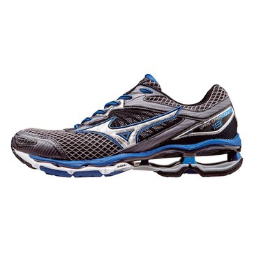 Mizuno Wave Creation 18 Men's Running Shoe Charcoal/ Sky Blue