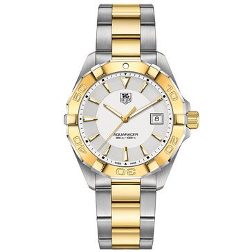 Tag Heuer Men's Aquaracer 18K Gold Plated and Fine Brushed Steel Watch, 41mm