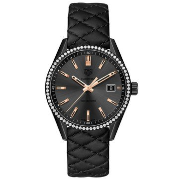Tag Heuer Women's Carrera Black Tatum Diamond Gold Watch 39mm