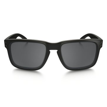Oakley Men's Holbrook Polarized Sunglasses, Matte Black/ Black 55mm