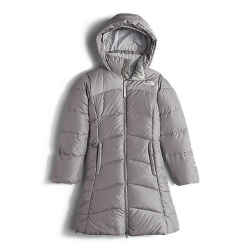 The North Face Girls' Elisa Down Parka, Metallic Silver