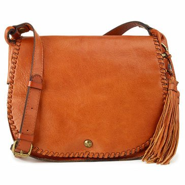 Patricia Nash Adria Veg Tan Saddle Bag Tan